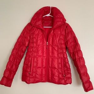 Red Kenneth Cole Lightweight Down Jacket